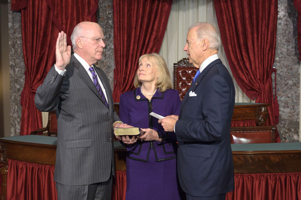 Senator Leahy Is Sworn In As President Pro Tempore