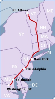 Vermont Rail Improvments Map