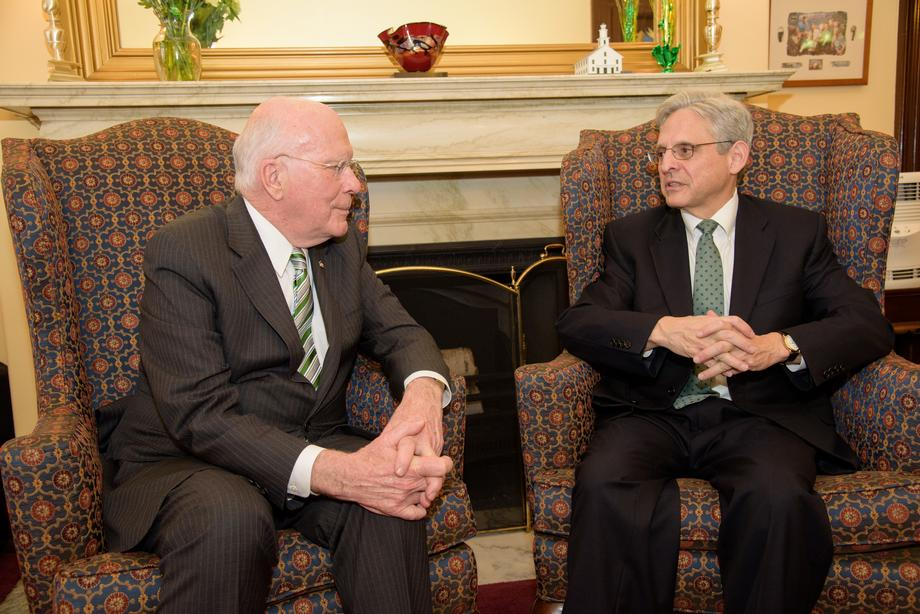 Leahy Meets with SCOTUS Nominee Chief Judge Merrick Garland