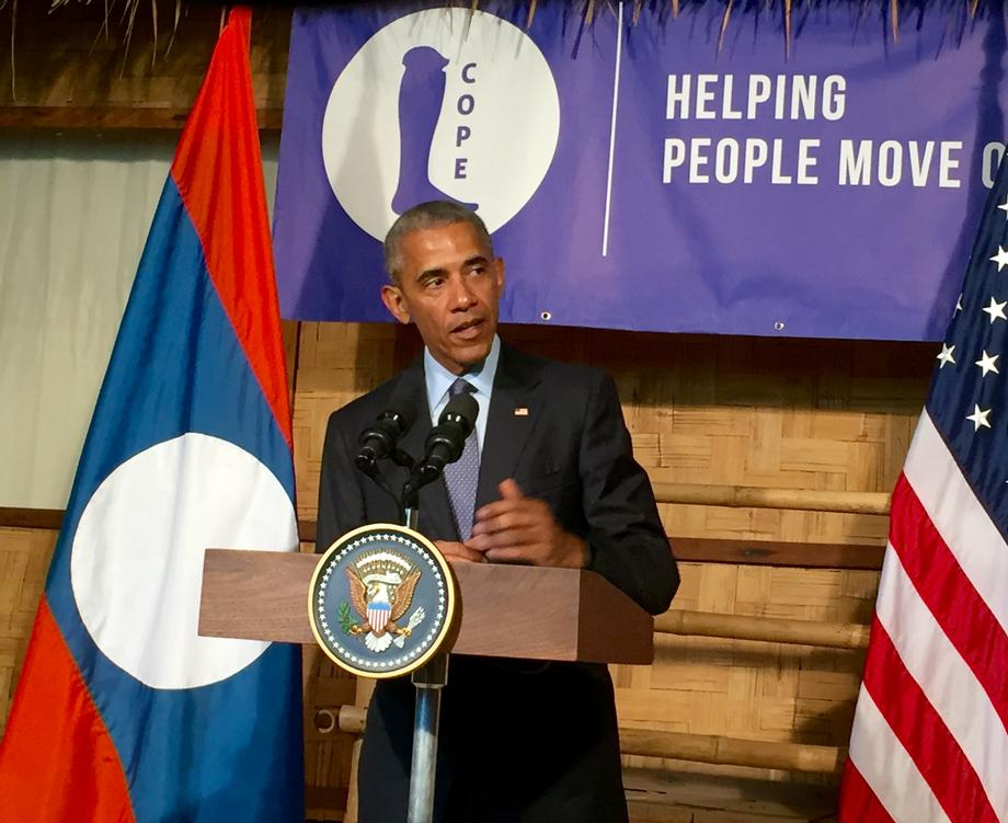 USAID Images of President Obama in Laos