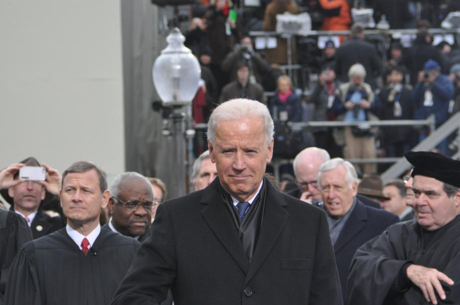 Vice President Biden on the Inaugural Platform; also here are Supeme Court members and House Assistant Democratic Leader Hoyer