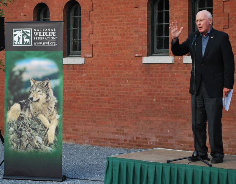 Senator Leahy delivers remarks at an event for the National Wildlife Federation.