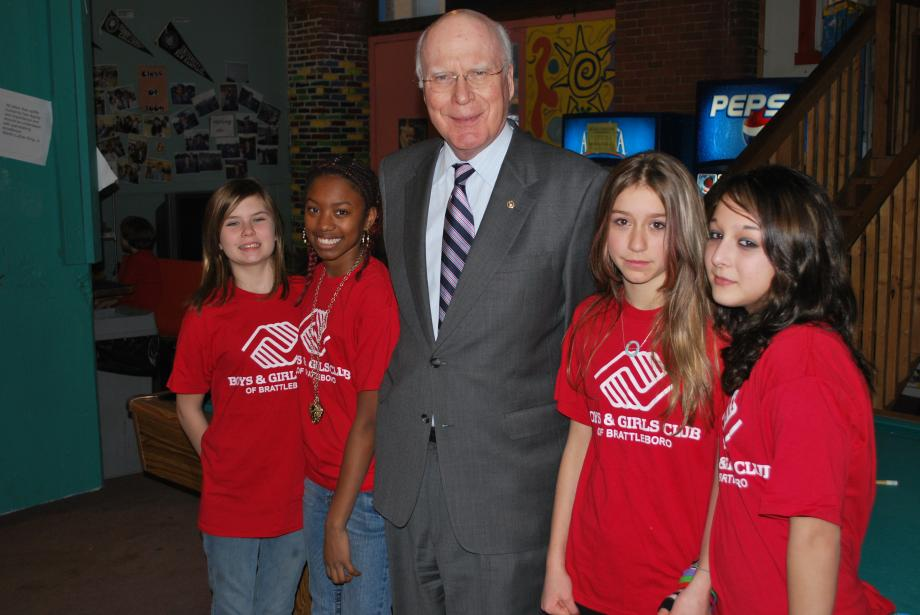 Senator Leahy stopped by the Boys and Girls Club of Brattleboro on February 16.