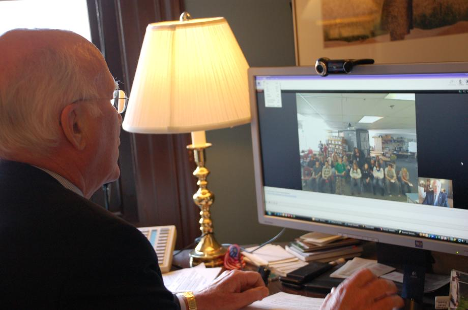 On February 4, 2010, Senator Leahy joined students from Barre City Elementary & Middle School for an online chat. For about 30 minutes, the students asked Senator Leahy a range of questions.