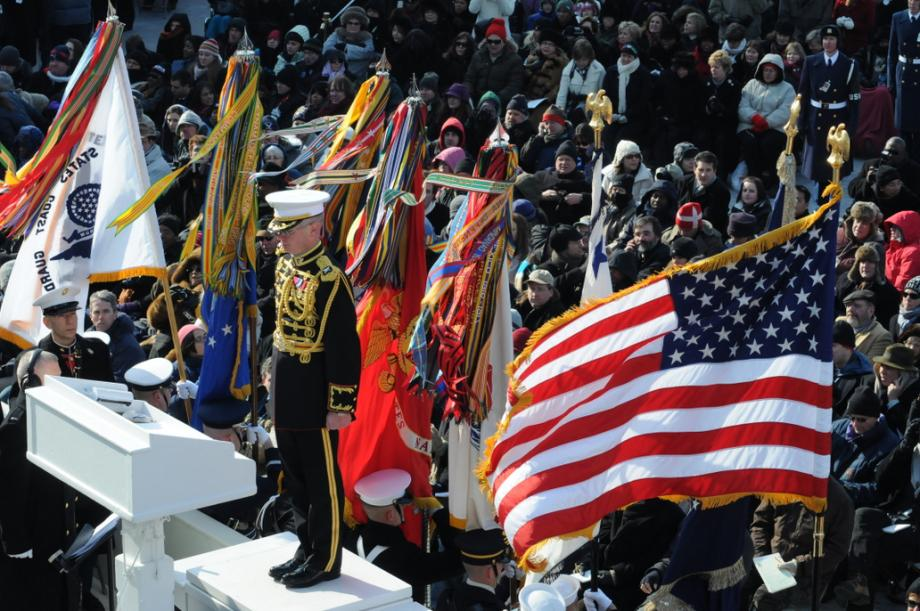 Vermonter Colonel Michael Coburn directs the Marine Band.