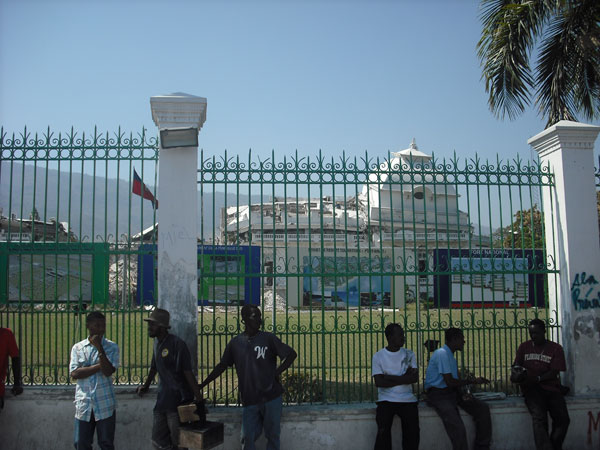 A view of the exterior of the palace in Port-au-Prince, Haiti.