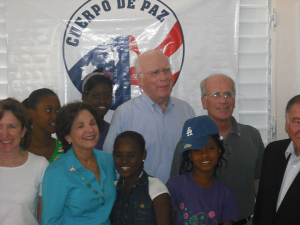 Senator Leahy, Congressman Peter Welch, and other members of the Congressional Delegation spend time with children of the Batey Community in the Dominican Republic.