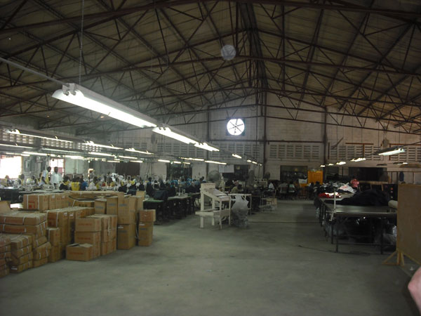 A view of the interior of the INDEPCO manufacturing facility in Haiti.
