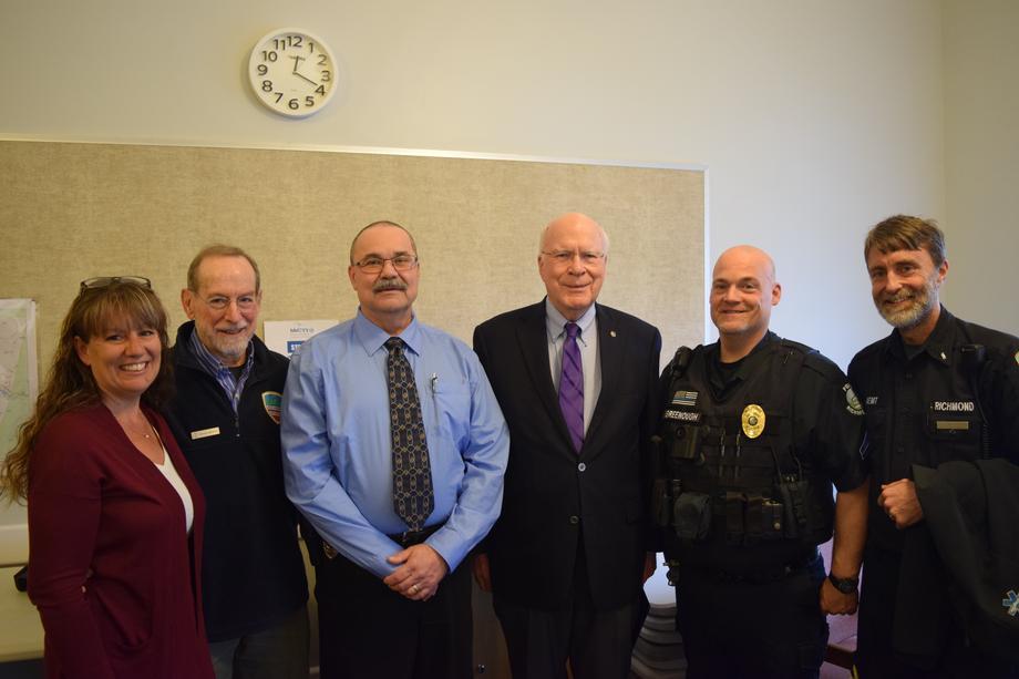 Senator Leahy held a press conference in Richmond with local community leaders to detail increased funding to fight the opioid epidemic across the nation.
